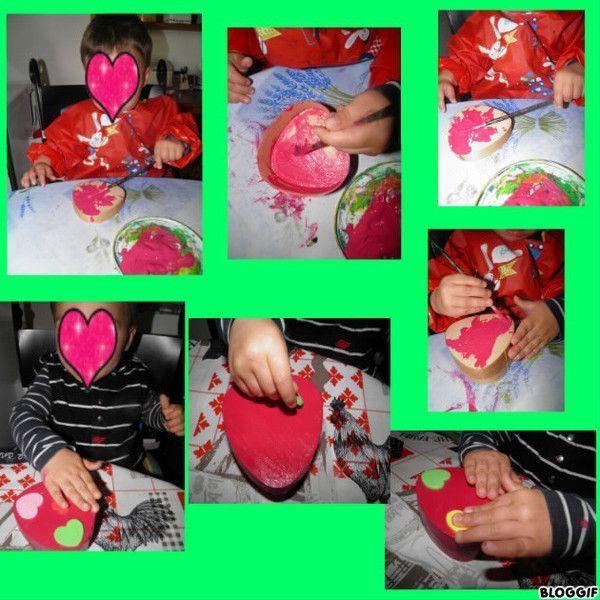 Boite bijoux en coeur activit manuelle boite a bijoux - Fabriquer une boite a bijoux ...
